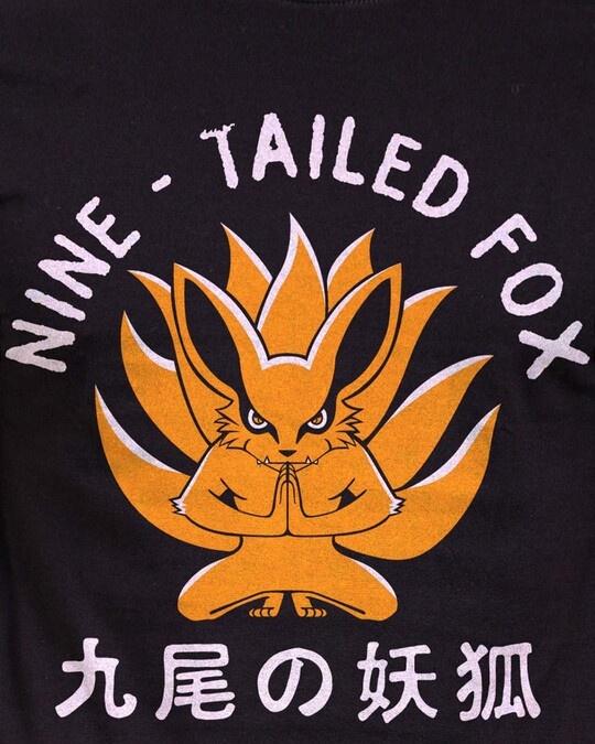 Shop Nine   Tailed Fox Cotton Half Sleeves T Shirt