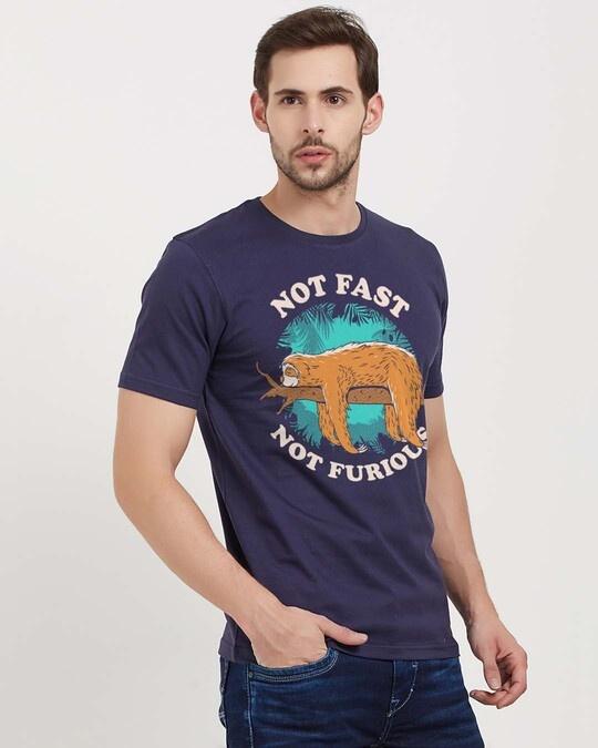 Shop Not Fast Furious Cotton Half Sleeves T Shirt-Design