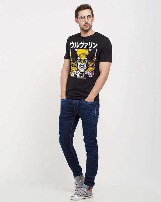 Shop Wolverine: Kanji Official Marvel Cotton Half Sleeves T Shirt-Full