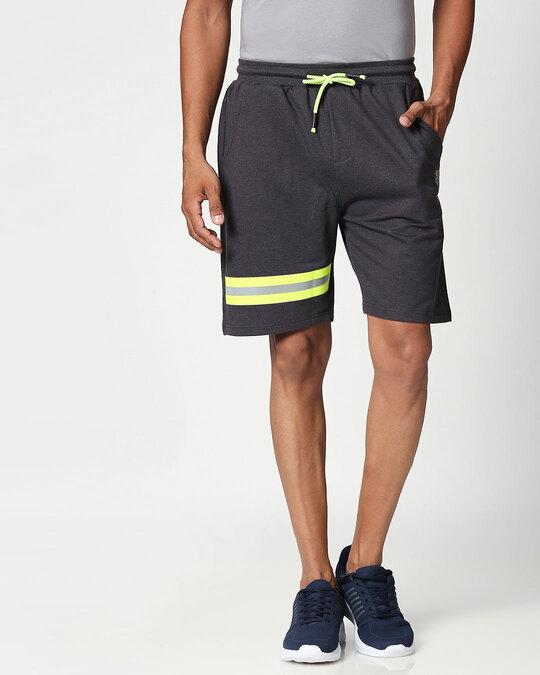 Shop Reflector Melange Shorts-Front