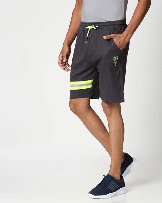 Shop Reflector Melange Shorts-Back