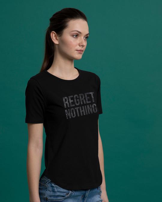 Shop Regret Nothing Basic Round Hem T-Shirt-Back