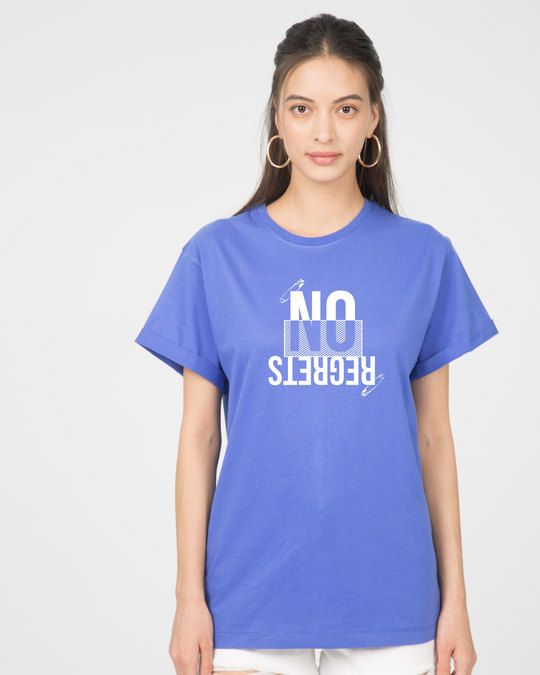 Shop Regrets-none Boyfriend T-Shirt-Front