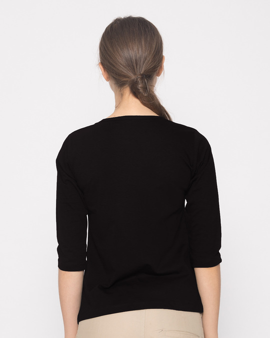 Shop Regrets-none Round Neck 3/4th Sleeve T-Shirt-Back