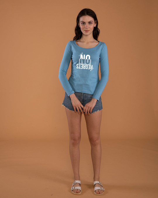Shop Regrets-none Scoop Neck Full Sleeve T-Shirt-Design
