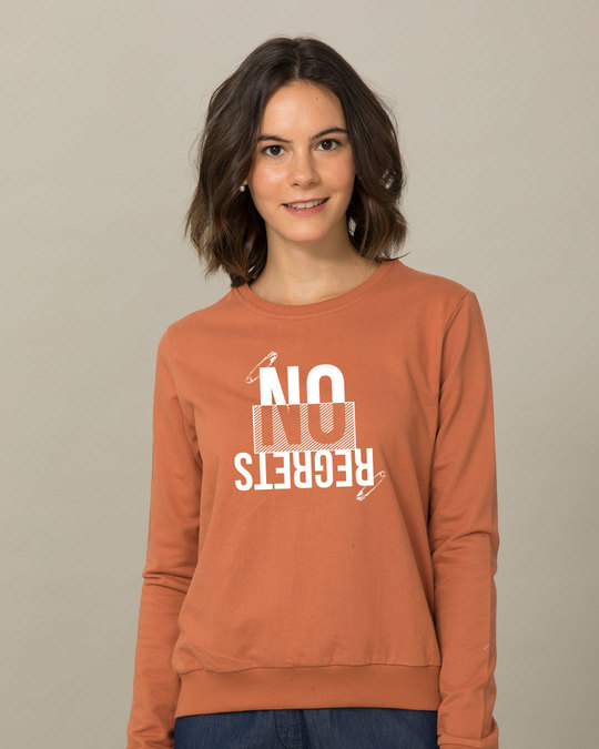 Shop Regrets-none Sweatshirt-Front