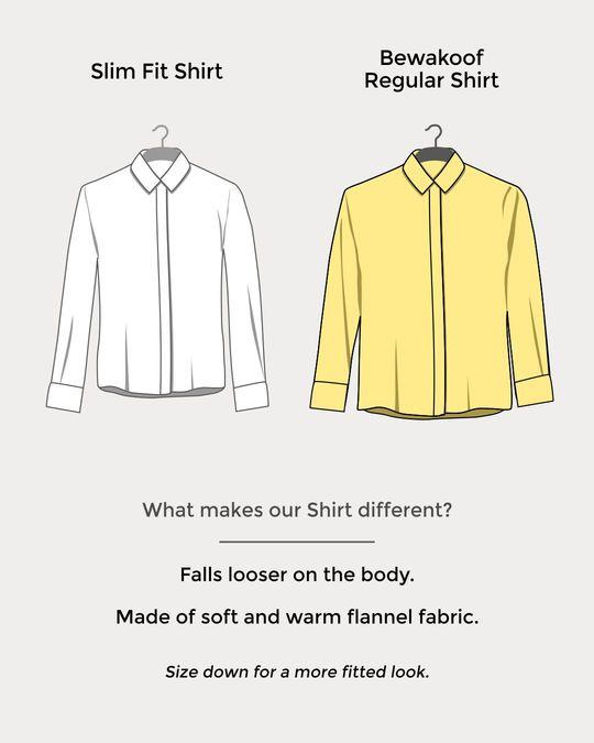 Shop Soot Black Check Slim Shirt-Design