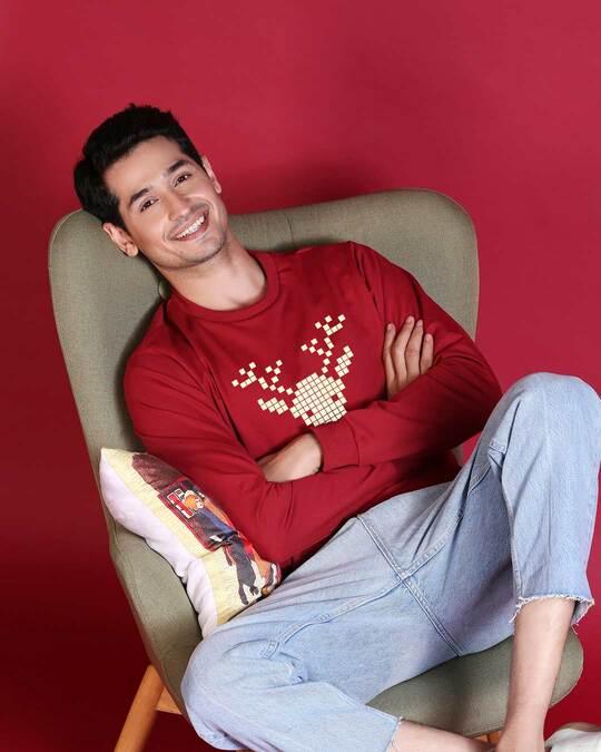 Shop Reindeer Fleece Sweater-Front