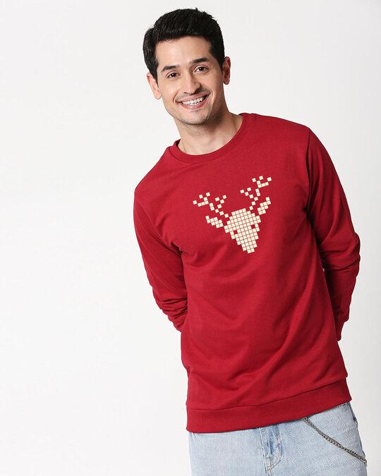Shop Reindeer Fleece Sweater-Back