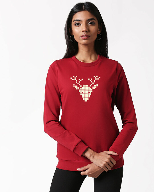 Shop Reindeer	Fleece Sweater-Back