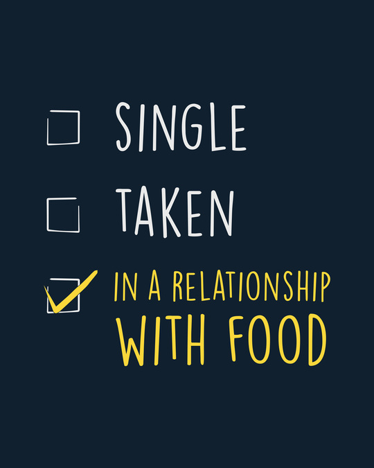 Shop Relationship With Food Boyfriend T-Shirt