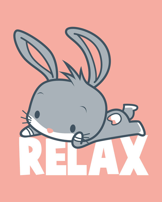 Shop Relax Chibi Bunny Half Sleeve T-Shirt (LTL)-Full