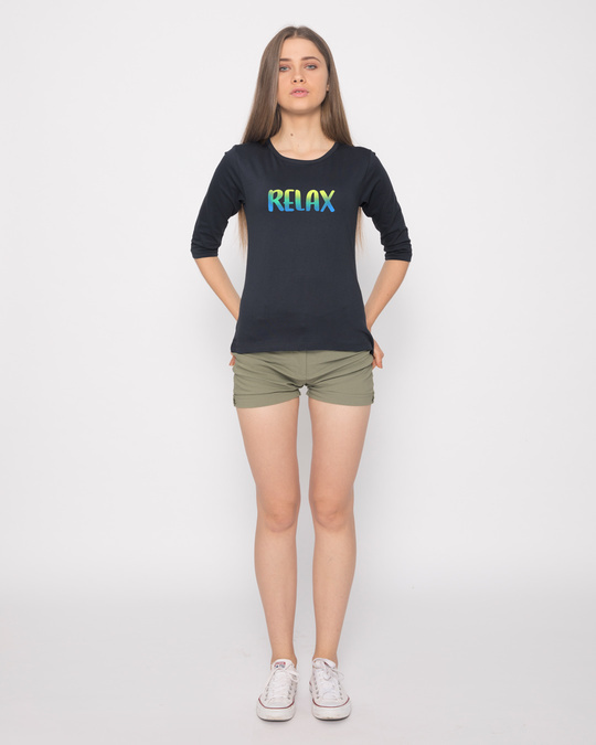 Shop Relax Round Neck 3/4th Sleeve T-Shirt-Full