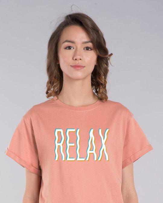 Shop Relax Wave Boyfriend T-Shirt-Front