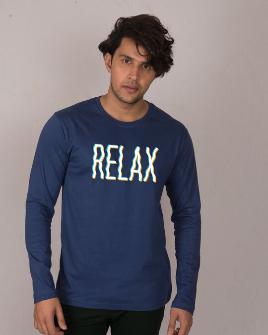 Shop Relax Wave Full Sleeve T-Shirt-Front