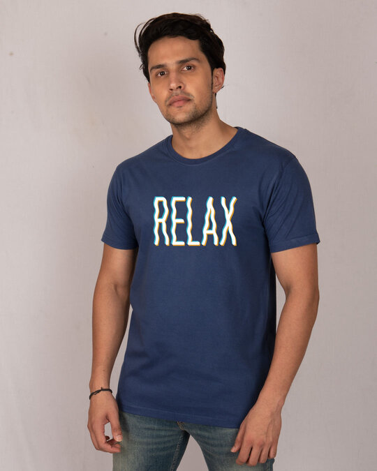Shop Relax Wave Half Sleeve T-Shirt-Back