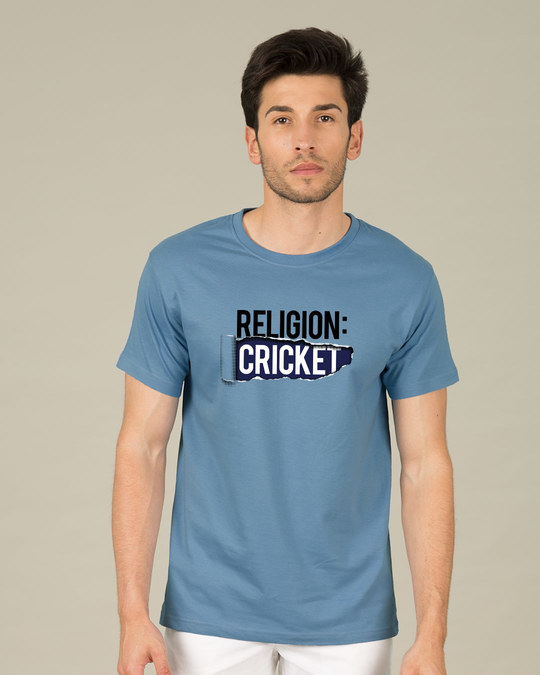 Shop Religion Is Cricket Half Sleeve T-Shirt-Back