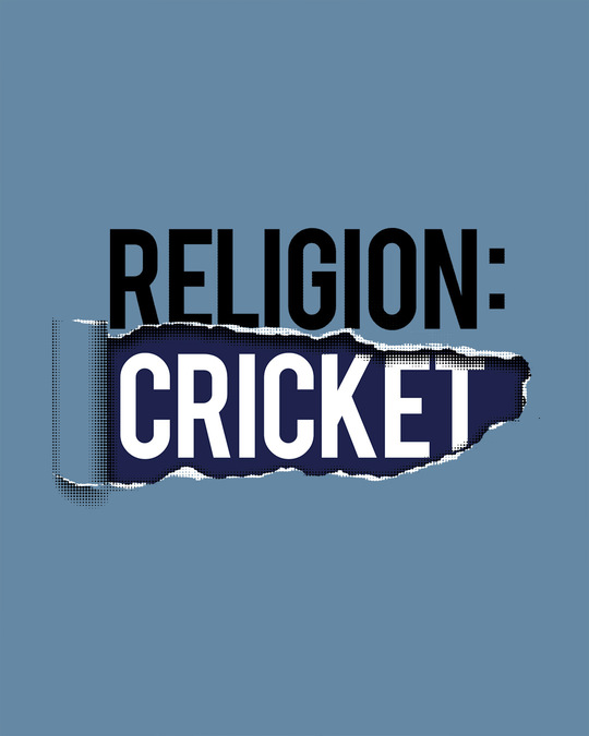 Shop Religion Is Cricket Half Sleeve T-Shirt
