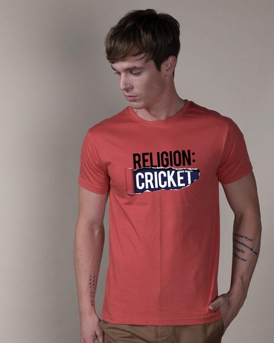 Shop Religion Is Cricket Half Sleeve T-Shirt-Back