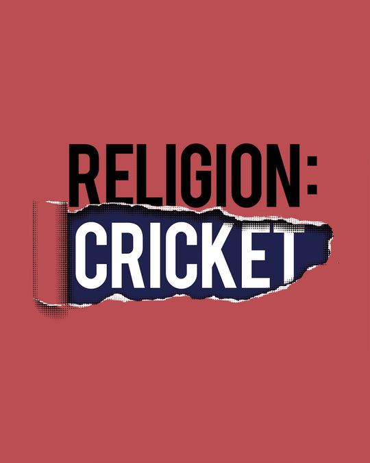 Shop Religion Is Cricket Half Sleeve T-Shirt