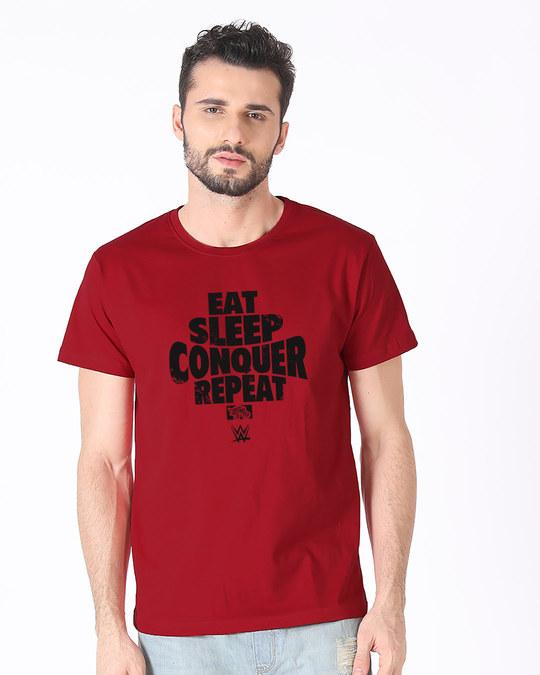 Shop Repeat Brock Lesner Half Sleeve T-Shirt (WWEL)-Back