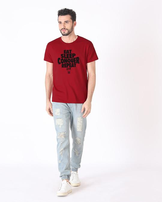 Shop Repeat Brock Lesner Half Sleeve T-Shirt (WWEL)-Full