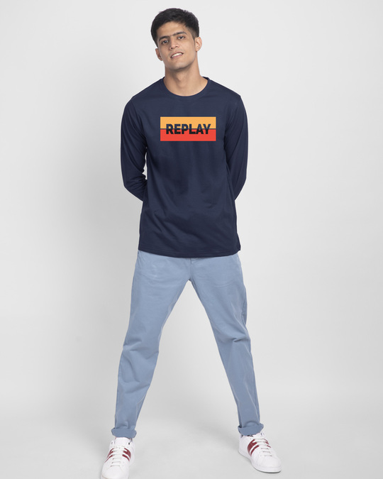 Shop Replay Full Sleeve T-Shirt-Full