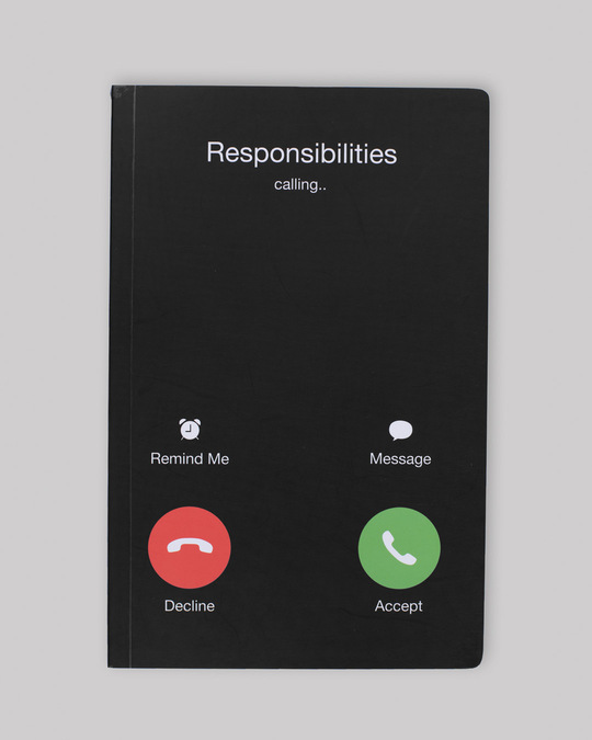 Shop Responsibilities Calling Notebook-Front