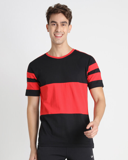 Shop Retro Red Front Panel T-Shirt-Back