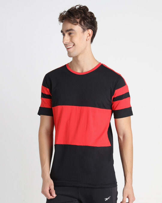 Shop Retro Red Front Panel T-Shirt-Design
