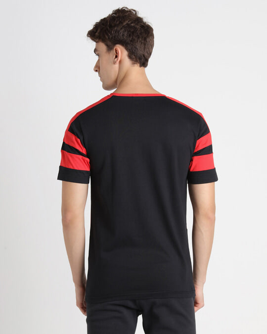 Shop Retro Red Front Panel T-Shirt-Full