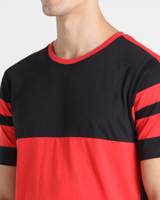 Shop Retro Red Front Panel T-Shirt