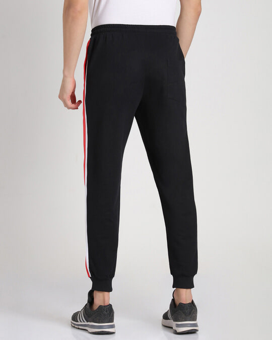 Shop Retro Red Side Panel Joggers-Full