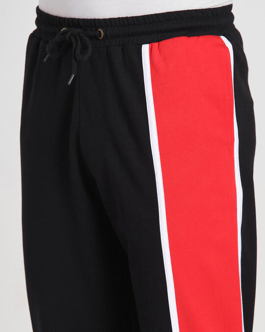Shop Retro Red Side Panel Joggers