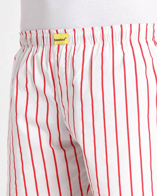 Shop Retro Red Stripe Boxer