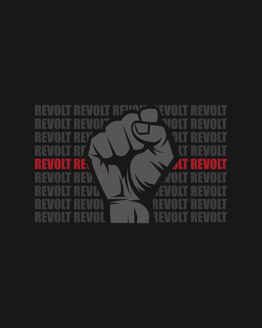 Shop Revolt Repeat Full Sleeve Raglan T-Shirt Navy Blue-Black-Full