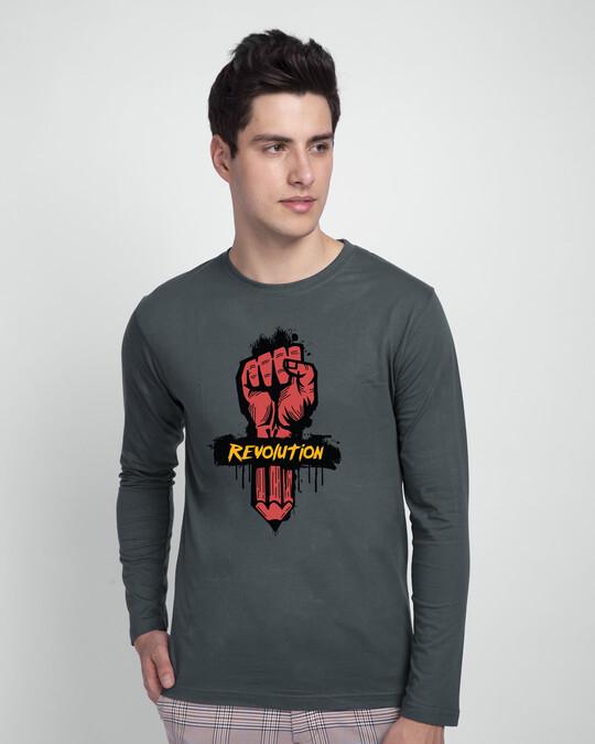 Shop Revolution! Full Sleeve T-Shirt-Front
