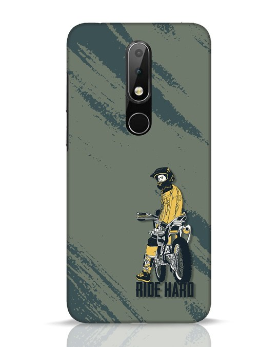 Shop Ride Hard Nokia 6.1 Plus Mobile Cover-Front
