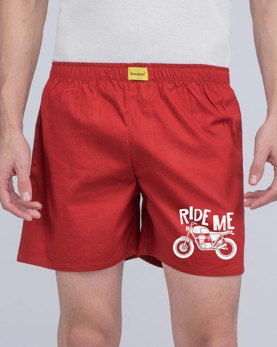 Shop Ride Me Glow In Dark Side Printed Boxer -Back