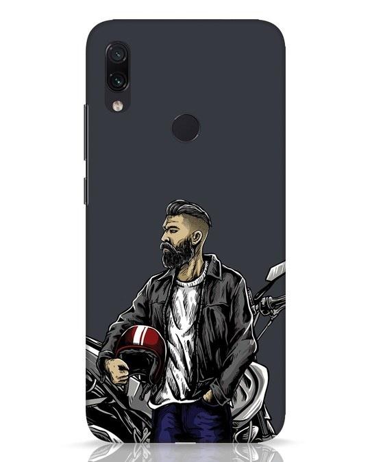 Shop Rider Dude Xiaomi Redmi Note 7 Pro Mobile Cover-Front
