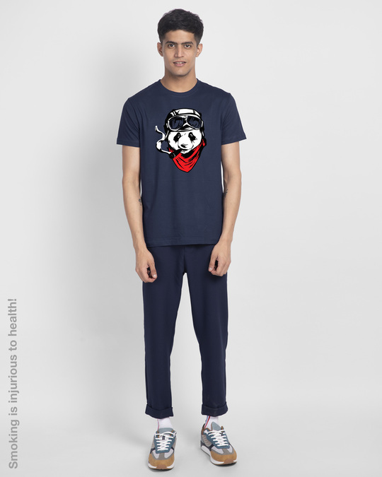 Shop Rider Panda Half Sleeve T-Shirt-Design