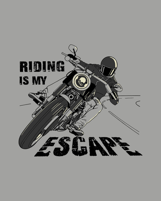 Shop Riding Is My Escape Full Sleeve T-Shirt