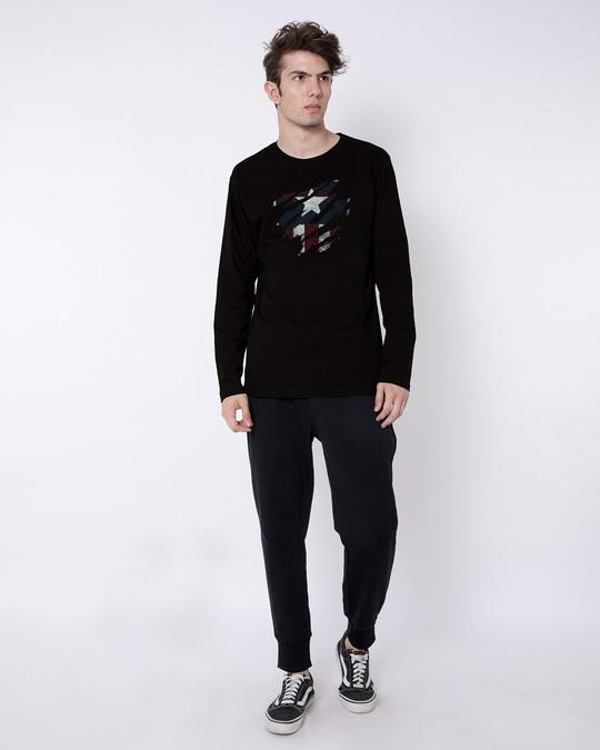 Shop Ripped Captain Full Sleeve T-Shirt (AVL)