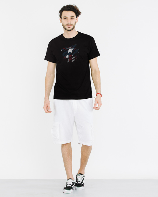 Shop Ripped Captain Half Sleeve T-Shirt (AVL)