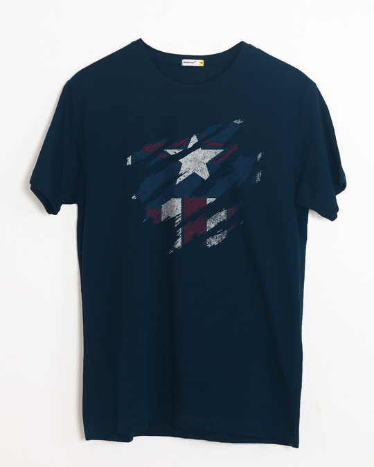 Shop Ripped Captain Half Sleeve T-Shirt (AVL)-Front