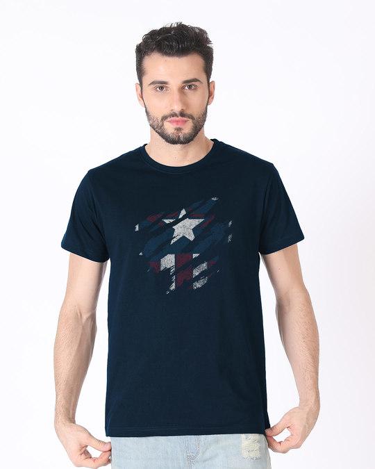 Shop Ripped Captain Half Sleeve T-Shirt (AVL)-Back