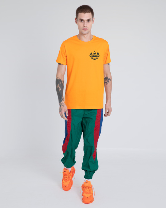 Shop Road Cone Perspective Half Sleeve T-Shirt-Full