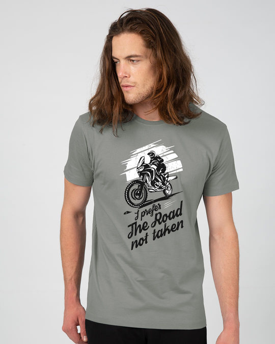 Shop Road Not Taken Half Sleeve T-Shirt-Back