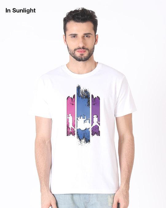 Shop Rock Band Half Sleeve T-Shirt (Sun Active)-Design