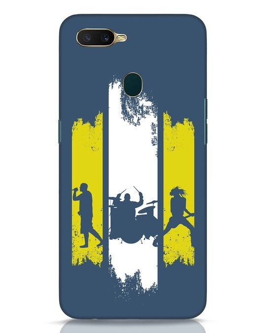 Shop Rock Band Oppo A7 Mobile Cover-Front